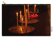Lit Candles In A Church Carry-all Pouch