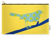Little Blue Bird Carry-all Pouch by Linda Woods