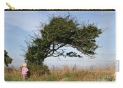 Little Girl And Wind-blown Tree Carry-all Pouch
