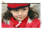 Little Girl In Red Carry-all Pouch