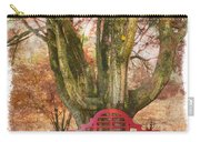 Little Red Bench Carry-all Pouch by Debra and Dave Vanderlaan