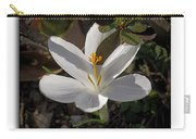 Little White Flower Carry-all Pouch