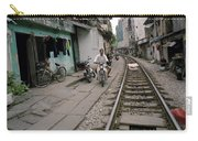 Living By The Tracks In Hanoi Carry-all Pouch