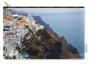 Living On The Edge In Santorini Carry-all Pouch