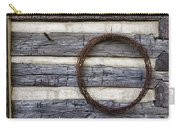 Log Cabin And Barbed Wire Carry-all Pouch