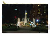 Logan Circle Fountain With City Hall At Night Carry-all Pouch by Bill Cannon