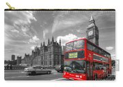 London Big Ben And Red Bus Carry-all Pouch