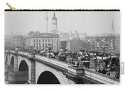 London Bridge Showing Carriages - Coaches And Pedestrian Traffic - C 1900 Carry-all Pouch