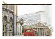 London Street With View Of Royal Exchange Building Carry-all Pouch by Elena Elisseeva