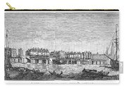 London: Waterfront, 1750. /nlondon Bridge And Dyers Wharf. Wood Engraving After A Painting By S. Scott, C1750 Carry-all Pouch