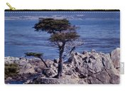 Lone Cypress By The Sea Carry-all Pouch