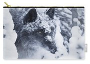 Lone Wolf In Snow Carry-all Pouch