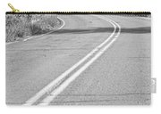 Long And Winding Road Bw Carry-all Pouch