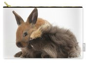 Long-haired Guinea Pig And Young Rabbit Carry-all Pouch