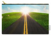 Long Road In Beautiful Nature  Carry-all Pouch