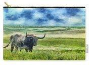 Longhorn Prarie Carry-all Pouch by Jeff Kolker