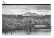 Longs Peak And Mt Meeker Sunrise At Golden Ponds Bw  Carry-all Pouch
