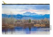 Longs Peak And Mt Meeker Sunrise At Golden Ponds Carry-all Pouch