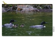 Loons With Twins Carry-all Pouch