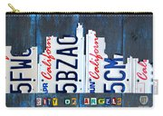 Los Angeles Skyline License Plate Art Carry-all Pouch