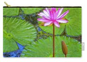 Lotus Blossom And Water Lily Pads Carry-all Pouch