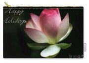 Lotus Flower Holiday Card Carry-all Pouch