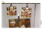 Lotus Flower Pendant And Earring Set Carry-all Pouch