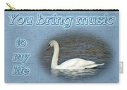Love - I Love You Greeting Card - Mute Swan Carry-all Pouch