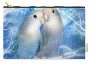 Love At Christmas Card Carry-all Pouch