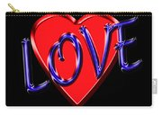 Love In Blue And Red Carry-all Pouch