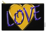 Love In Gold And Blue Carry-all Pouch