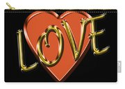 Love In Gold And Copper Carry-all Pouch