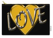 Love In Gold And Silver Carry-all Pouch
