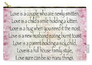 Love Poem In Pink Carry-all Pouch
