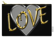 Love In Silver And Gold  Carry-all Pouch