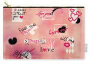 Love Words - Valentine's Card Carry-all Pouch