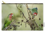 Lovebirds At Play  Carry-all Pouch