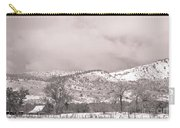 Low Clouds On The Colorado Rocky Mountain Foothills 3 Bw Carry-all Pouch