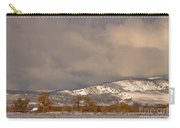 Low Winter Storm Clouds Colorado Rocky Mountain Foothills 2 Carry-all Pouch