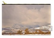 Low Winter Storm Clouds Colorado Rocky Mountain Foothills 5 Carry-all Pouch