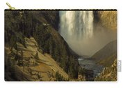 Lower Falls On The Yellowstone River Carry-all Pouch