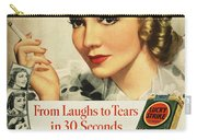 Luckys Cigarette Ad, 1938 Carry-all Pouch