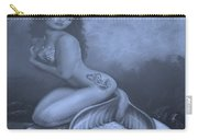 Lydia The Tattooed Mermaid In Cyan Carry-all Pouch