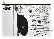 Lyndon B. Johnson: Cartoon Carry-all Pouch by Granger