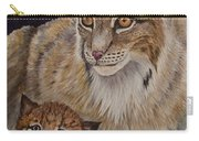 Lynx Mom And Baby Carry-all Pouch