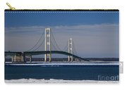 Mackinac Bridge In Winter 2 Carry-all Pouch