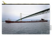 Mackinac Bridge With Ship Carry-all Pouch