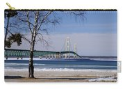 Mackinac Bridge With Trees Carry-all Pouch