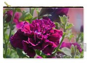 Maco Petunia Flower Double Burgundy Madness Art Prints Carry-all Pouch