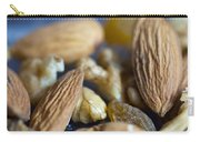 Macro Shots Of Various Dry Fruit Items Such As Almonds And Walnuts And Raisins Carry-all Pouch